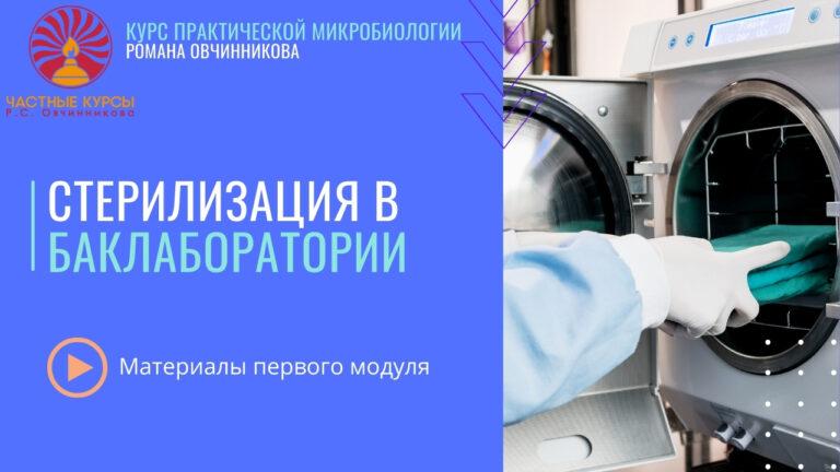 Стерилиацзия в баклаборатории_обложка